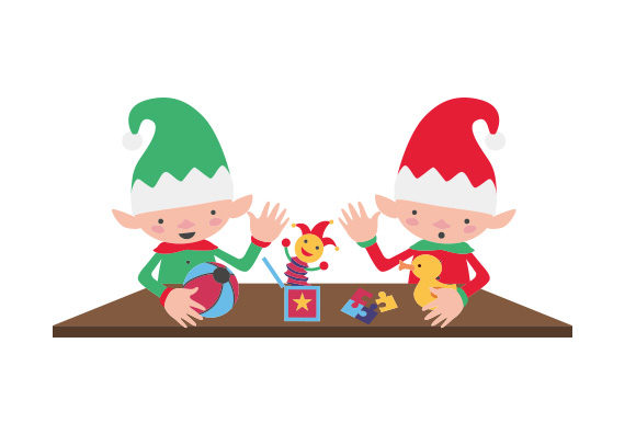 Download Free Santa S Elves Working In A Workshop Svg Cut File By Creative for Cricut Explore, Silhouette and other cutting machines.