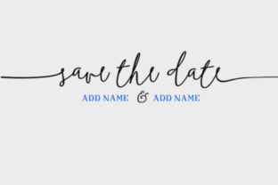 Save the Date Graphic Crafts By Nicola Apon