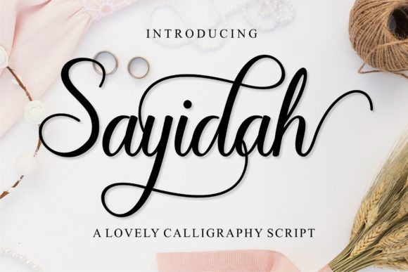 Print on Demand: Sayidah Script & Handwritten Font By MJB Letters