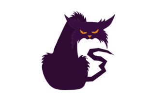 Scary Cat Halloween Craft Cut File By Creative Fabrica Crafts