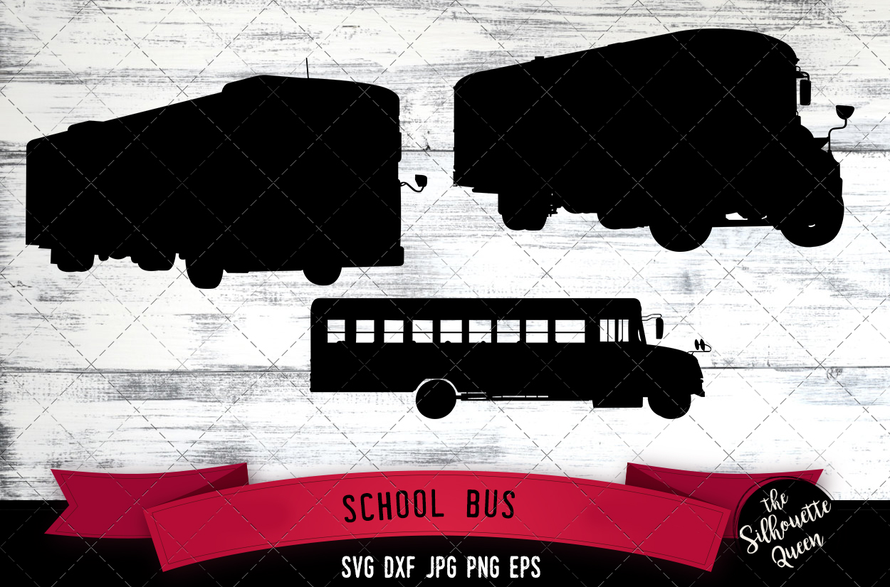 Download Free School Bus Graphic By Thesilhouettequeenshop Creative Fabrica for Cricut Explore, Silhouette and other cutting machines.