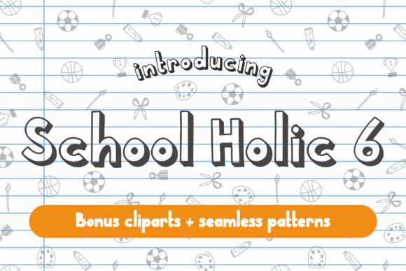 Print on Demand: School Holic Display Font By Orenari