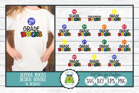 School Rocks Design Bundle Gráfico Crafts Por funkyfrogcreativedesigns