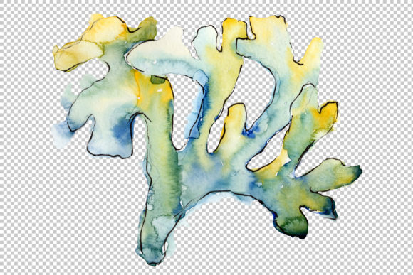 Print on Demand: Sea Flowers, Corals Magic Watercolor Png Graphic Illustrations By MyStocks - Image 5