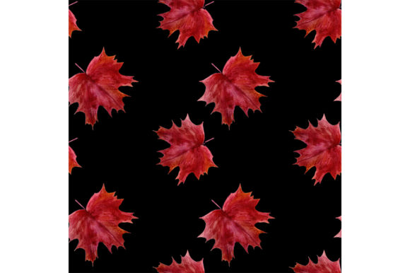 Print on Demand: Seamless Pattern Autumn Leaves. Graphic Patterns By kakva