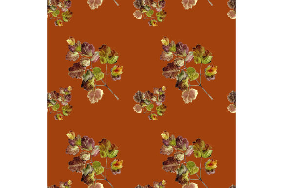 Print on Demand: Seamless Pattern Autumn Leaves Graphic Patterns By kakva
