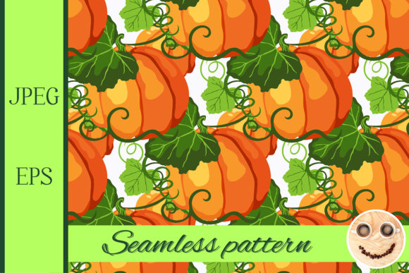 Print on Demand: Seamless Pattern with Fall Graphic Patterns By TasiPas