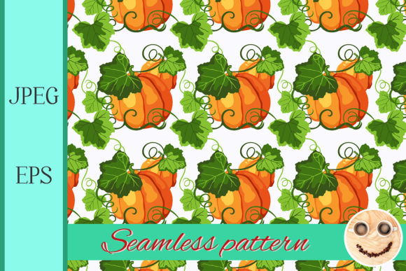 Print on Demand: Seamless Pattern with Pumpkin Graphic Patterns By TasiPas