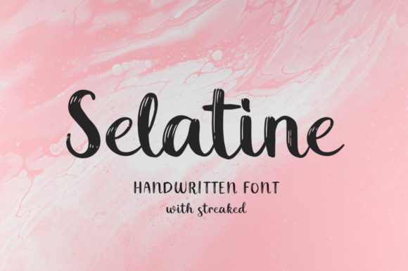 Print on Demand: Selatine Script & Handwritten Font By Pasha Larin - Image 1