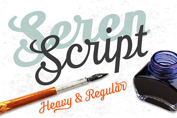 Print on Demand: Seren Script & Handwritten Font By TypeFaithFonts