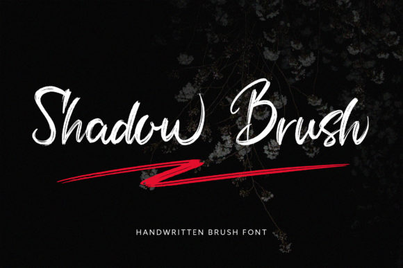 Print on Demand: Shadow Brush Script & Handwritten Font By Juncreative