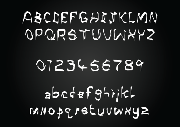 Print on Demand: Shadow Horror Script & Handwritten Font By GraphicsBam Fonts - Image 2