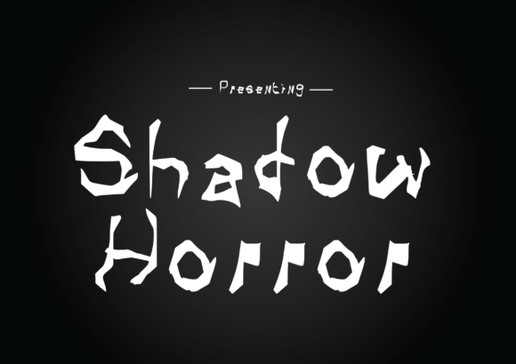 Print on Demand: Shadow Horror Script & Handwritten Font By GraphicsBam Fonts - Image 1