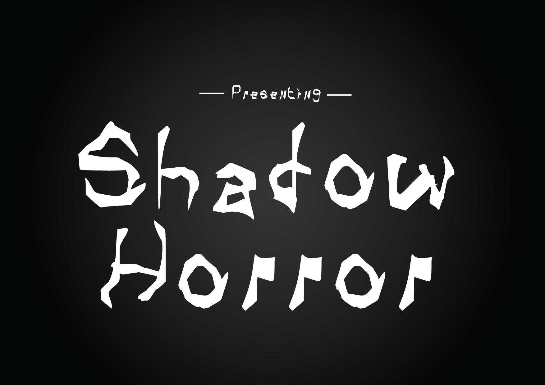 Download Free Shadow Horror Font By Graphicsbam Fonts Creative Fabrica for Cricut Explore, Silhouette and other cutting machines.