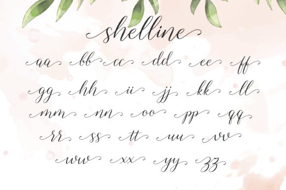 Print on Demand: Shelline Script & Handwritten Font By almarkhatype - Image 7