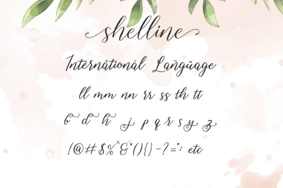 Print on Demand: Shelline Script & Handwritten Font By almarkhatype - Image 8