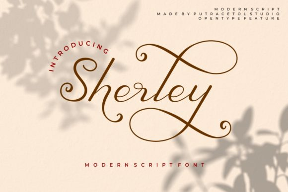 Print on Demand: Sherley Script & Handwritten Font By putracetol