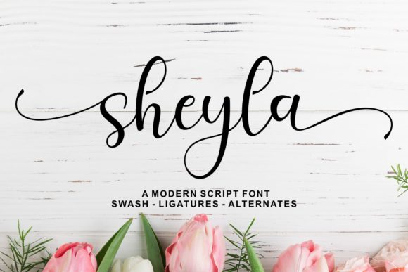 Print on Demand: Sheyla Script Script & Handwritten Font By syakaltype