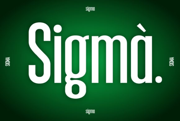 Print on Demand: Sigma Display Font By neurontype