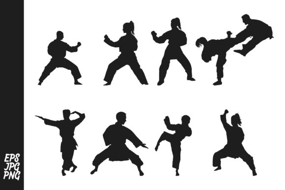 Print on Demand: Silhouette Karate Graphic Illustrations By Arief Sapta Adjie
