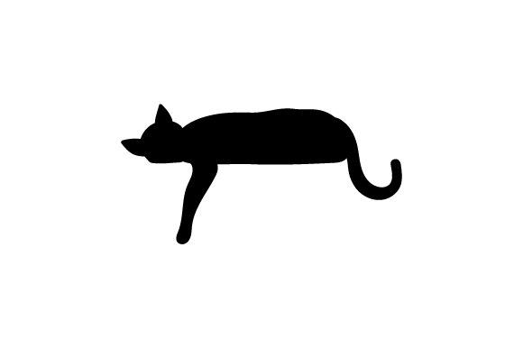Download Free Silhouette Of Cat Laying Down With Paw Hanging Down Svg Cut File for Cricut Explore, Silhouette and other cutting machines.