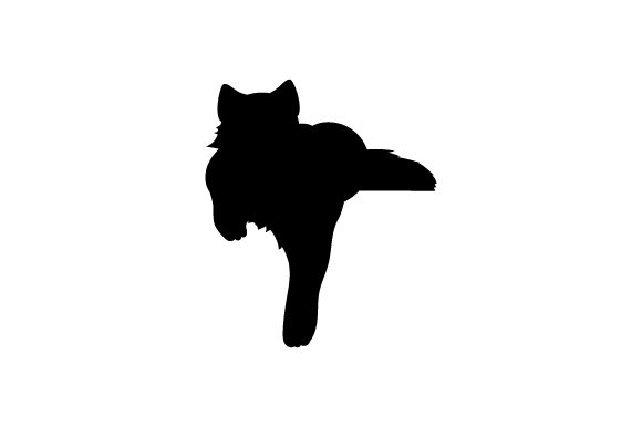 Silhouette of Cat Laying Down with Paw Hanging Down Cats Craft Cut File By Creative Fabrica Crafts