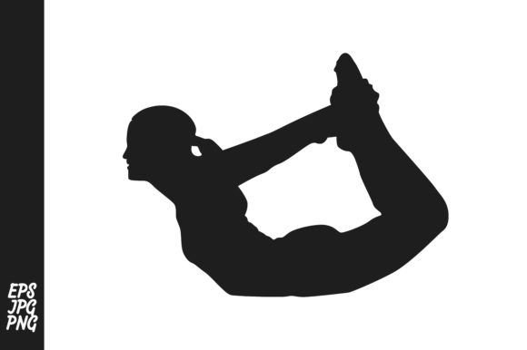 Print on Demand: Silhouette of Yoga Meditation Graphic Illustrations By Arief Sapta Adjie