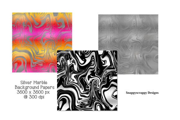 Silver Marble Background Papers Graphic Backgrounds By Snappyscrappy - Image 2