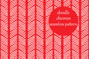 Download Free Simple Doodle Chevron Stripes Pattern Graphic By Brightgrayart for Cricut Explore, Silhouette and other cutting machines.