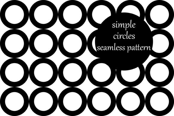 Download Free Simple Geometric Loop Circles Pattern Graphic By Brightgrayart for Cricut Explore, Silhouette and other cutting machines.