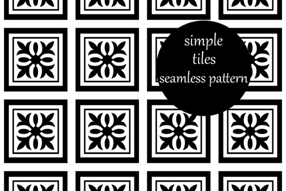 Download Free Simple Geometric Square Tiles Pattern Graphic By Brightgrayart for Cricut Explore, Silhouette and other cutting machines.