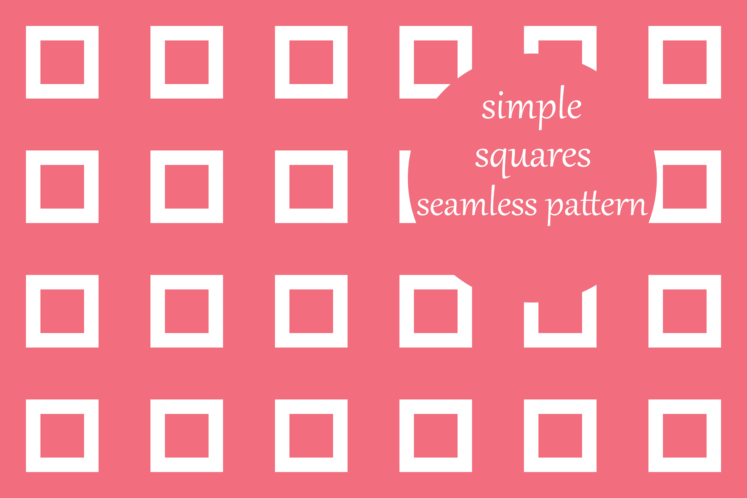 Download Free Simple Geometric Squares Pattern Graphic By Brightgrayart for Cricut Explore, Silhouette and other cutting machines.