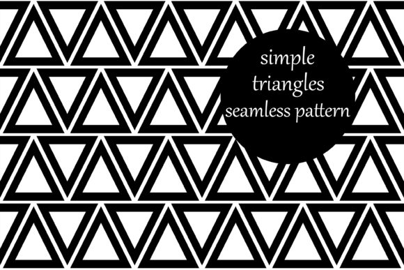 Download Free Simple Geometric Triangles Pattern Graphic By Brightgrayart for Cricut Explore, Silhouette and other cutting machines.