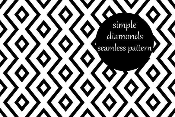 Download Free Simple Geometric Zig Zag Diamond Pattern Grafico Por for Cricut Explore, Silhouette and other cutting machines.