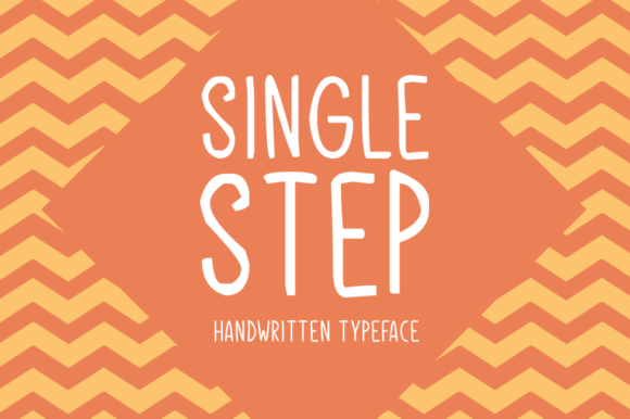 Print on Demand: Single Step Display Font By Shattered Notion