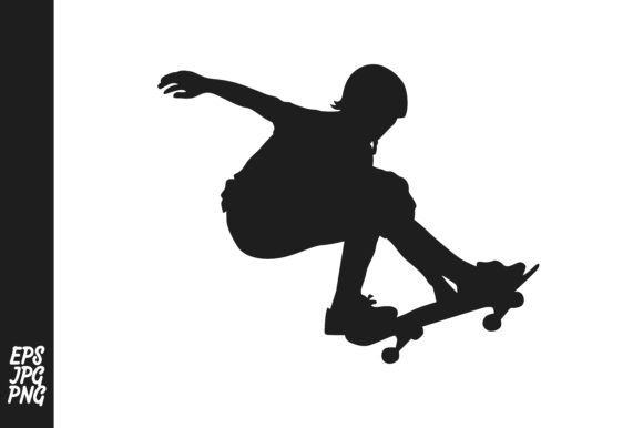 Download Free Skateboard Player Silhouette Grafico Por Arief Sapta Adjie for Cricut Explore, Silhouette and other cutting machines.
