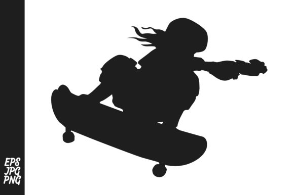 Print on Demand: Skateboarder Silhouette Graphic Crafts By Arief Sapta Adjie