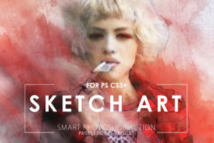 Download Free Sketch Art Photoshop Action Grafik Von Artistmef Creative Fabrica for Cricut Explore, Silhouette and other cutting machines.