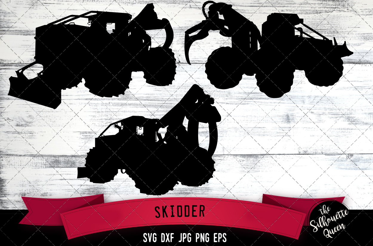 Download Free Skidder Grafik Von Thesilhouettequeenshop Creative Fabrica for Cricut Explore, Silhouette and other cutting machines.