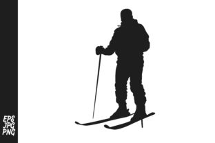 Download Free Skier Silhouette Graphic By Arief Sapta Adjie Ii Creative Fabrica for Cricut Explore, Silhouette and other cutting machines.