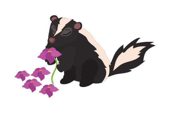 Download Free Skunk Smelling Flowers Svg Cut File By Creative Fabrica Crafts SVG Cut Files