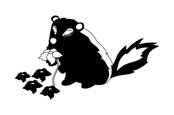 Download Free Skunk Smelling Flowers Svg Cut File By Creative Fabrica Crafts for Cricut Explore, Silhouette and other cutting machines.
