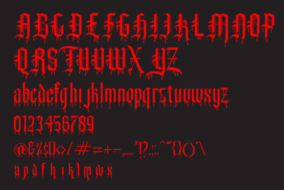 Print on Demand: Slayer Creeper Blackletter Font By gumacreative - Image 4