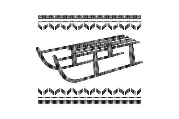 Download Free Sled Ugly Sweater Style Svg Cut File By Creative Fabrica Crafts for Cricut Explore, Silhouette and other cutting machines.