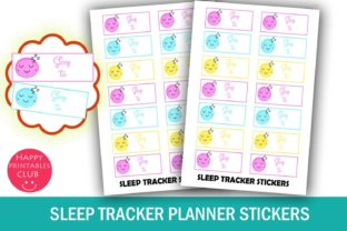 Sleep Tracker Planner Stickers Graphic By Happy Printables Club