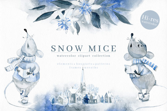 Download Free Snow Mice Graphic By Dinkoobraz Creative Fabrica for Cricut Explore, Silhouette and other cutting machines.