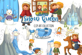 Snow Queen Clip Art Collection Graphic By Keepinitkawaiidesign