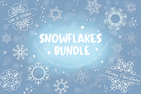 Snowflakes Bundle Graphic Download
