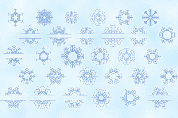 Snowflakes Bundle Graphic Item