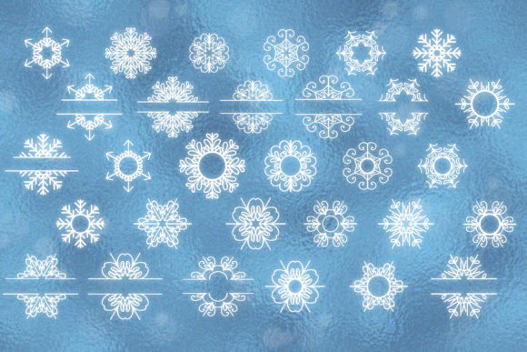 Snowflakes Bundle Graphic Design